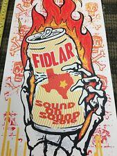 FIDLAR SCREEN PRINTED Rock gig poster Kuhn punk BEER LSD FUN SKULLS Acid