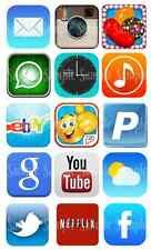 15 x iPhone iPad App Icon Edible Icing Birthday Cake Cupcake Toppers Decorations