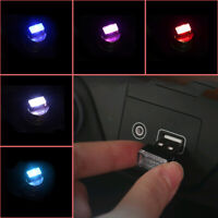 1PC Mini USB LED Light Car Interior Light Neon Atmosphere Ambient Lamp 5color