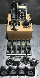 Panasonic KX-TG785 DECT 6.0 Link2cell Cordless Phone Telephone w/5x Handsets