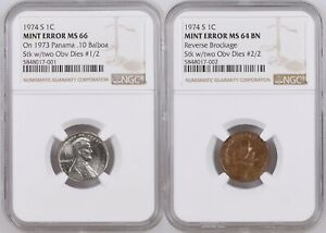 UNIQUE 1974-S Lincoln Cent Mated Pair Struck by 2 U.S. Cent Obverse Dies NGC