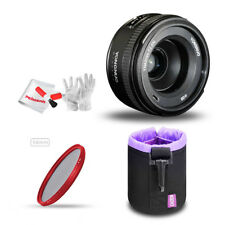 YONGNUO 40mm F2.8N AF MF Standard Telephoto Prime Lens+ Lens Pouch+ 58mm Filter
