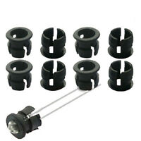 US Stock 50pcs 8mm Black Plastic LED Clip Holder Case Cup Mounting