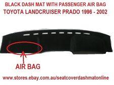 DASH MAT,BLACK DASHMAT FIT TOYOTA PRADO 96-02 ,BLACK WITH AIR BAG PASSENGER SIDE