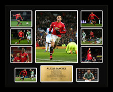 New Alexis Sanchez Signed Manchester United Limited Edition Memorabilia Framed