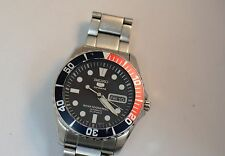 Seiko 5 Blue Dial Stainless Steel Automatic Mens Watch Pre Owned SNZF15