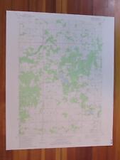 Burnips Michigan 1982 Original Vintage USGS Topo Map