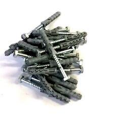Schlüsselschrauben DIN 571 verzinkt 6 x 50 mm inkl. 8er Dübel 25 Stück