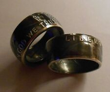 Custom Handmade  Silver Benjamin Half Dollars Rings Double Sided 6-14 half sizes