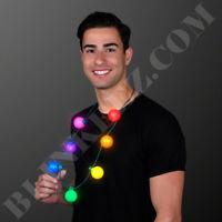 Large Rainbow Party Globes Light Up LED Necklace