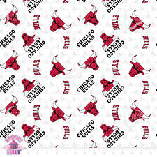 NBA Chicago Bulls 100% Cotton Fabric by the Yard