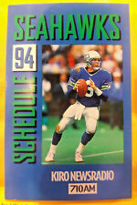 1994 SEATTLE SEAHAWKS RICK MIRER SCHEDULE KINGDOME STADIUM KIRO NEWSRADIO 00047