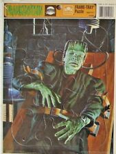 UNIVERSAL MONSTERS-FRANKENSTEIN-GLEN STRANGE-FRAME TRAY PUZZLE-GOLDEN-SEALED