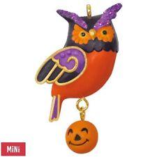 Hallmark 2017 Wee Little Owl Miniature Halloween Ornament