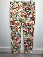 Tommy Bahama Women's Denim White and Hawaiian Floral Skinny Ankle 30x28
