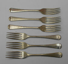 """VINTAGE~ CUTLERY~ SET OF 6  FORKS ~ GILSON ~ A ~ E.P.N.S ~ SILVER PLATED ~ 6.75"""""""