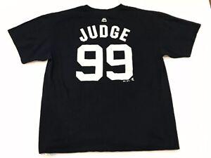 Majestic New York Yankees Aaron Judge Jersey T-Shirt #99 Mens XL EUC MLB