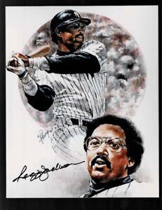 Framed Reggie Jackson Superduperstar Sports Illustrated Autograph Replica Print 6171974-8x10 Print
