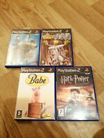 4 SONY PS2 KIDS GAMES + MANUALS PLAYSTATION 2 BABE POTTER GADGET GOLDEN HARRY
