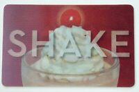 Steak 'n Shake Gift Card Lenticular 3-Way / Hamburger, Shake, Logo - No Value
