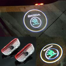 2x CREE LED Door Step Courtesy Laser Projector Lights For SKODA SUPERB 2009-2014