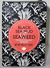 Crabtree & Evelyn Bath Triple Milled Bar Soap Black Sea Mud & Seaweed 4.9 oz