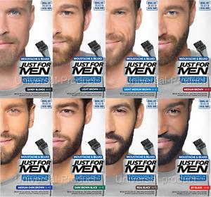 3x Just For Men Moustache and Beard Hair Gel Colourant Mens Hair Dye- GENUINE