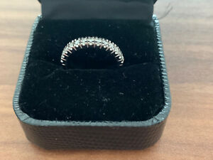 9ct Gold Diamond Half Eternity Ring, Hallmarked Size M 0.50ct