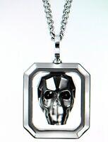 Swarovski Fran Anhänger Totenkopf Halskette Neu mit Verpackung