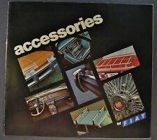 1976-1977 Fiat Accessories Brochure 124 Spider X1/9 131 Sedan Wagon 128 Coupe
