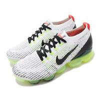 Nike Air Vapormax Flyknit 3 White Black Volt Men Running Shoe Sneaker AJ6900-100