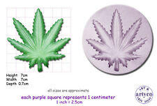 CANNABIS / HASH LEAF Large Craft Sugarcraft Fimo Sculpey Silicone Rubber Mould