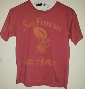 San Francisco 49ers Niners Red Shirt Top Youth Small  Used