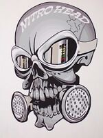 Nitro head Skull decal Decals Graphics Drag Racing NHRA Skulls