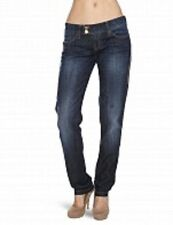 BNWT MISS SIXTY PIXIE SLIM  LOW RISE DARK WASH DISTRESSED JEANS SIZE 6 24W  32L