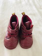 First Steps Infant Shoes Boys Girls Faux Leather soft sole 9-12 Months