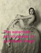 Old VINTAGE Antique DRAPED TOPLESS DANCER Photo Reprint