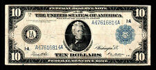 1914 $10 Large Size Federal Reserve Note of Boston
