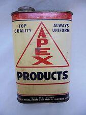 Rare Vintage Apex Oil Industrial Farm 1 Quart Can Film-X Harness Neatsfoot