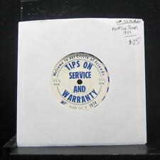 """Ford Tire Promo - Tips On Service And Warrenty 7"""" Vinyl 33 1974"""