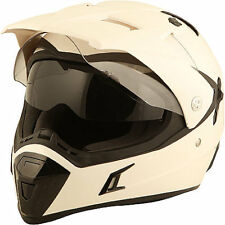 DUCHINNI D311 DUAL ADVENTURE WHITE FULL FACE MOTORCYCLE HELMET