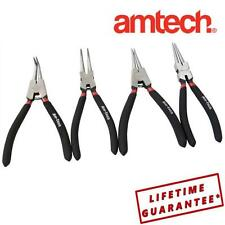 "AMTECH 4 Piece 7"" 175 mm Circlip Plier Set Internal External Straight Bent  LA30"