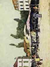 A4 photo menpes Mortimer 1855 1938 PARIS 1909 marche de Neuilly imprimé Poster