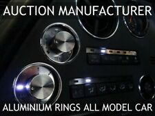FITS TOYOTA SUPRA MKIV CHROME AIR VENTS + HEATER RINGS SURROUNDS POLISHED ALLOY