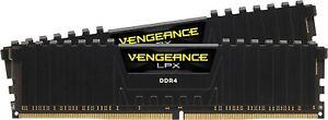 CORSAIR VENGEANCE LPX 16GB (2X8GB) 2400 MHz DDR4 Desktop Memory - Black Bulk