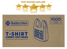 T Shirt Bags 1000 ct Plastic Grocery Shopping Carry Out Thank You Bag Recyclable