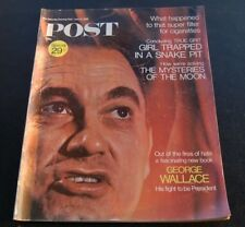 SATURDAY EVENING POST Vintage 6-15-1968~George Wallace~Mysteries of the Moon +