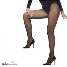 Ladies 80s 80's 1980s Fishnet Tights Fancy Dress Black by Smiffys
