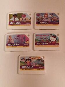 Vtech Mobigo Lot/5 Games Dora, Hello Kitty, Tangled, DocMcStuffins Sofia the 1st