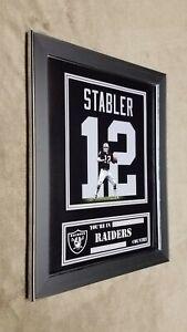 Oakland Raiders Ken Stabler Framed 8x10 Jersey Photo